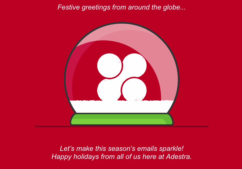 holiday email campaigns snow globe